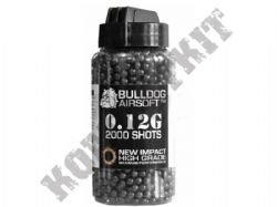 2000 x 6mm x 12g Black Polished Airsoft BB Pellets in Tub